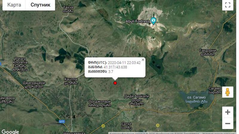 В селе Самеба произошло землетрясение