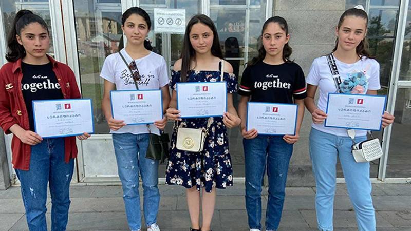 В рамках проекта «Наш грузинский язык» были награждены ученики 7-8 классов школы Ниноцминда
