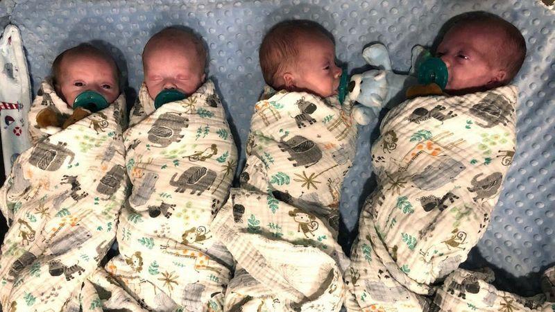 Четыре близнеца родились в Грузии