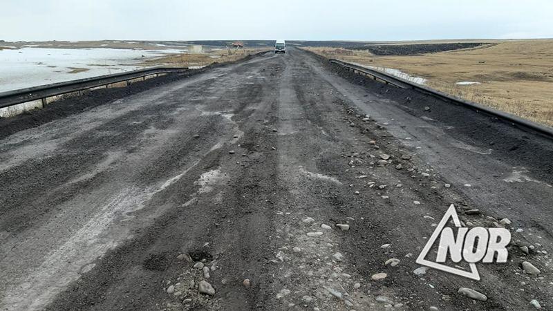 Дорога Ниноцминда-Орловка выравнена