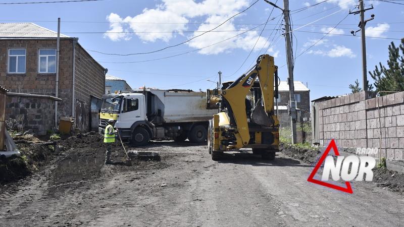 На четырех улицах города Ниноцминда начаты реабилитационные работы