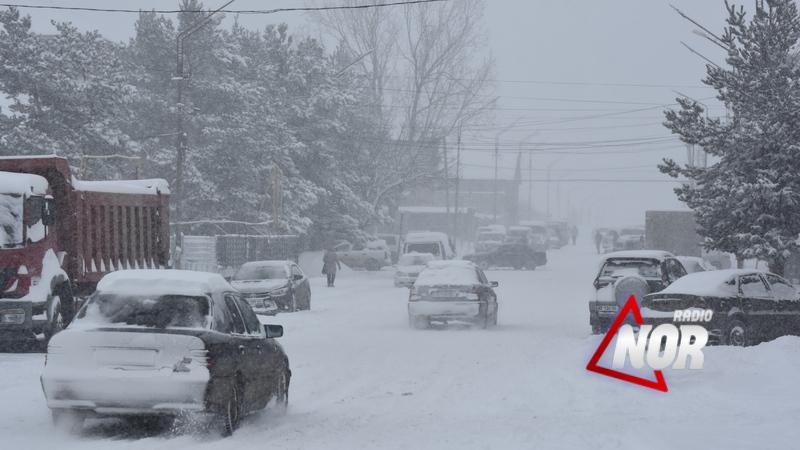 Снегопад Ниноцминдском муниципалитете\ фото