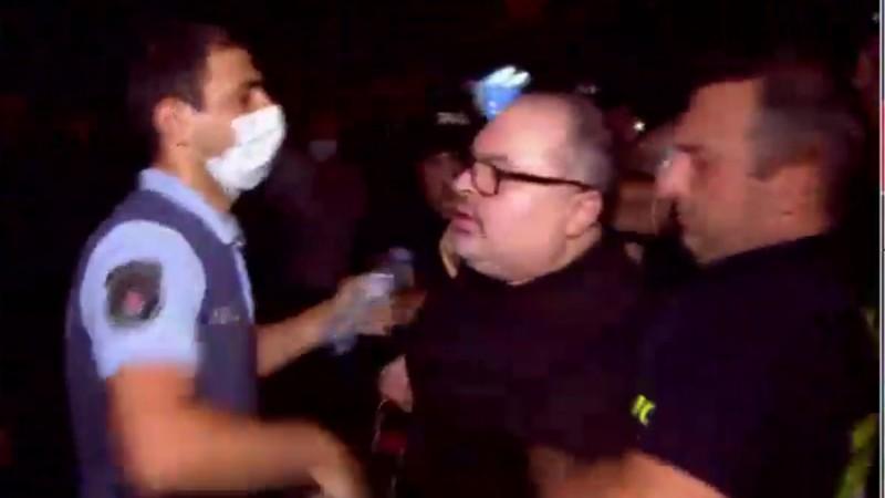 Ираклий Абсандзе, задержанный несколько часов назад на акции, освобожден
