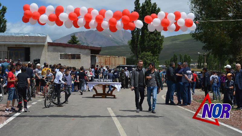 Открытие асфальтированной дороги Эштинской сельской общины/видео