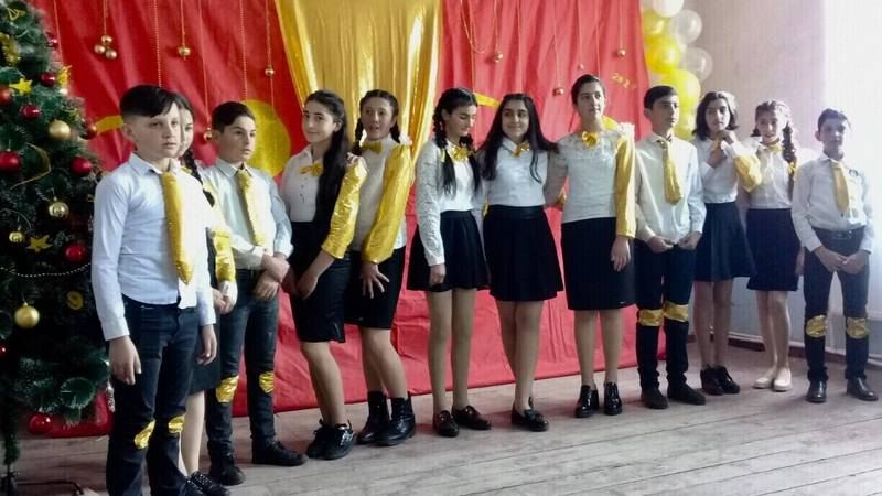 Мероприятие, посвящённое Новому году, в школе села Джиграшен