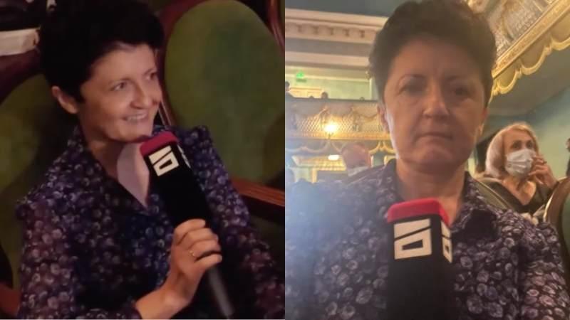 Министр культуры Теа Цулукиани отобрала микрофон у журналистки «Mtavari arkhi»