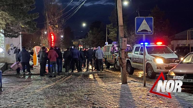 В Ниноцминде совершён наезд на пешехода, водитель скрылся с места происшествия