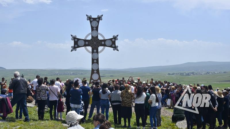 Освящение Креста в селе Озни Цалкинского муниципалитета/видео