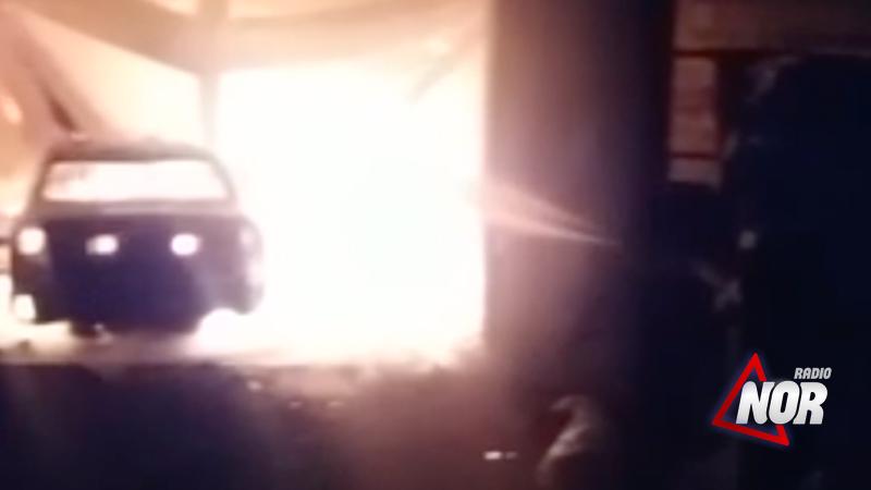 В селе Ороджалар сгорел гараж с автомобилем/Видео