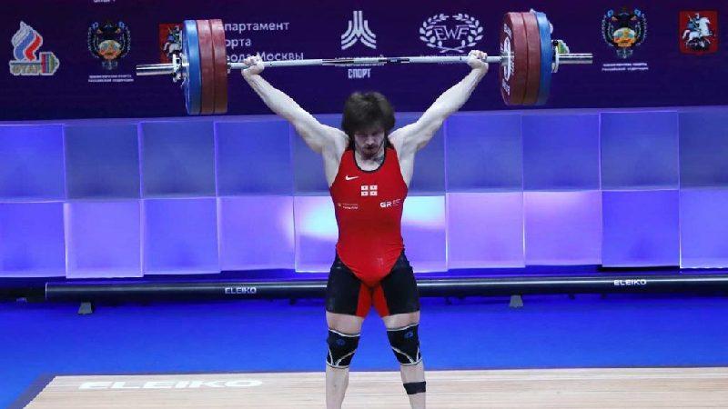 Грузинский тяжелоатлет завоевал три медали на чемпионате Европы в Москве