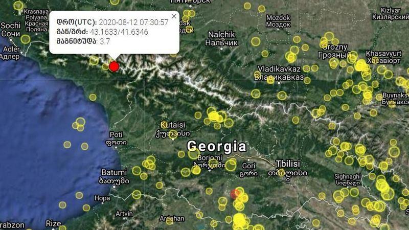 В Грузии произошло третье землетрясение за день
